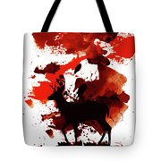 Deer Art Night Tote Bag