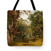Deer At The Edge Of A Wood Tote Bag