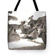 Deer Bedding Down Tote Bag