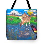 Deer Blessing Tote Bag