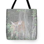 Deer By The Tree Line Tote Bag