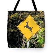 Deer Crossing Sign 2 Tote Bag