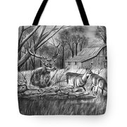 Deer Field  Tote Bag