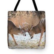 Deer Fight Tote Bag