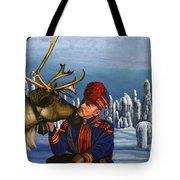 Deer Friends Of Finland Tote Bag