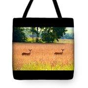 Deer In A Field Tote Bag