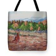 Deer In Fall Tote Bag