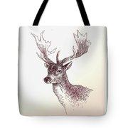 Deer In Ink Tote Bag
