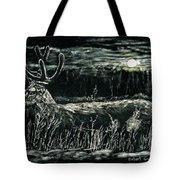 Deer In Moonlight Tote Bag