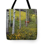 Deer In Spring Tote Bag