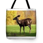 Deer In The Wild Tote Bag