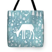 Deer In The Woods Tote Bag