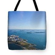 Deer Island In Boston Harbor 14bosl027 Tote Bag