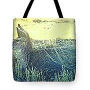 Deer Lying Down Tote Bag