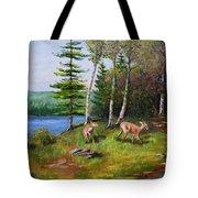 Deer Meadow Tote Bag
