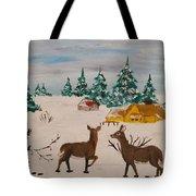 Deer Scene Tote Bag