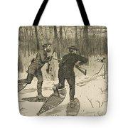 Deer-stalking In The Adirondacks In Winter Tote Bag