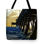 Deerfield Beach Pier At Sunrise Tote Bag