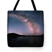 Deerfield Lake Milky Way Tote Bag