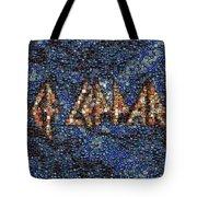 Def Leppard Albums Mosaic Tote Bag