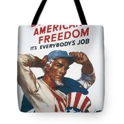 Defend American Freedom Tote Bag