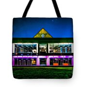 Defiance College Library Night View Tote Bag
