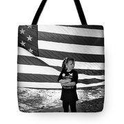Defiant Girl Desert Storm Troops Welcome Home Celebration Ft. Lowell Tucson Arizona 1991 Tote Bag