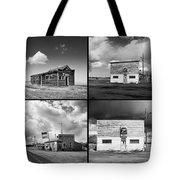 Defunct Country Taverns On North Dakota Prairie Composite Square Tote Bag