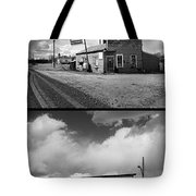 Defunct Country Taverns On North Dakota Prairie Composite Vertic Tote Bag