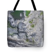 Degraded Landscape Old Coal Mine In South Of Poland. Tote Bag