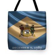Delaware State Flag Tote Bag