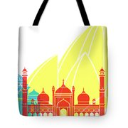 Delhy Skyline Pop Tote Bag