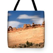 Delicate Arch Famous Landmark In Arches National Park Utah Tote Bag