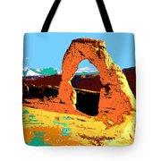 Delicate Arch Utah - Pop Art Tote Bag