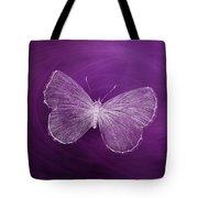 Delicate Butterflies Purple Tote Bag