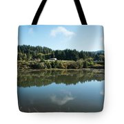 Delicate Clouds Reflected Tote Bag