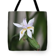 Delicate Pale Purple Iris Tote Bag