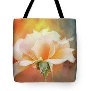 Delicate Rose On Color Splash Tote Bag