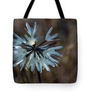 Delicate Silver Wildflower Tote Bag