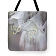 Delicate White Flowers Tote Bag