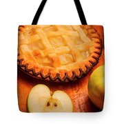Delicious Apple Pie With Fresh Apples On Table Tote Bag
