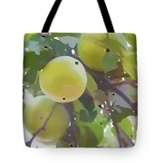 Delicious Yellow Apple In Summer Tote Bag