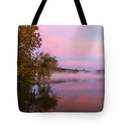 Delightfully Pink Morning Tote Bag