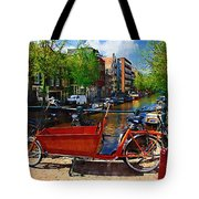 Delivery Bike Tote Bag