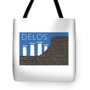 Delos - Blue Tote Bag by Sam Brennan