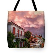 Delphi Greece Sunset Tote Bag