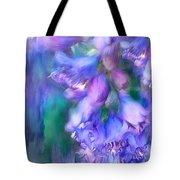 Delphinium Abstract Tote Bag