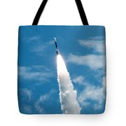 Delta Rocket From Cape Canaveral In Florida Tote Bag