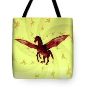Demon Winged Horse Tote Bag