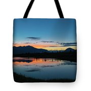 Denali Reflection Lake Tote Bag